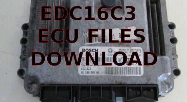 Ecu Tuning Files EDC16C3
