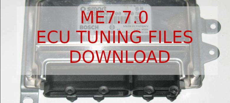 ME7.7.0 Ecu files