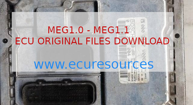MEG1.0 and 1.1 Ecu files